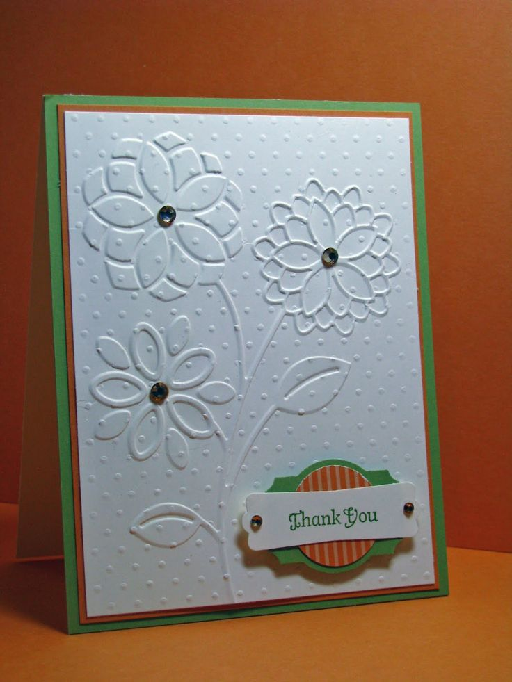 Great use of layered punches!: Embossing Cards, Cuttlebug Ideas, Embossing Techniques, Embossing Folder, Cards Ideas, Cuttlebug Cards, Double Embossing, Cards Embossing, Joy Creations