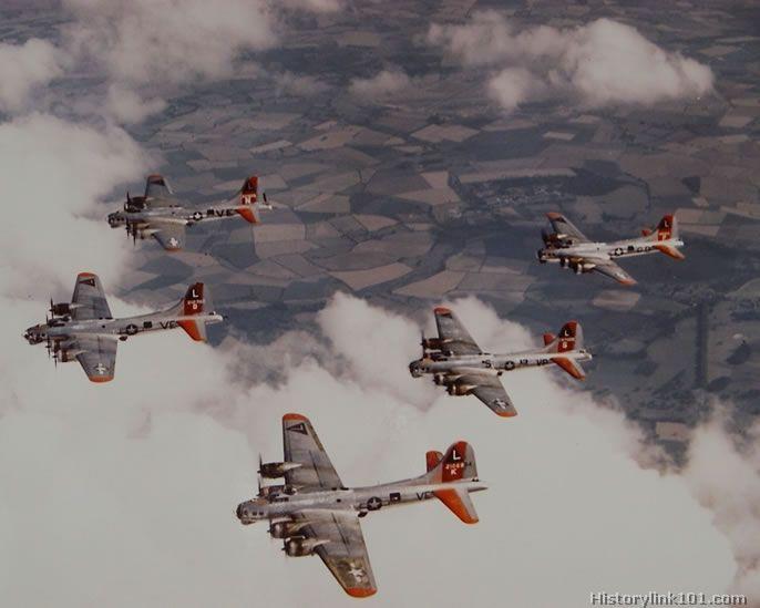 B-17s over England