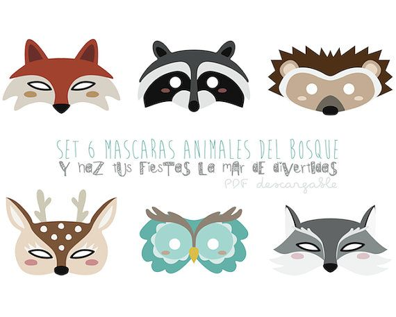 Máscaras ANIMALES DEL BOSQUE. Descargable