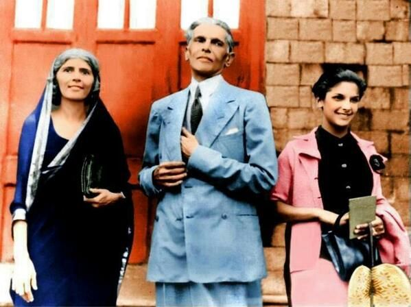 Quaid-e-Azam with Sister and Daughter