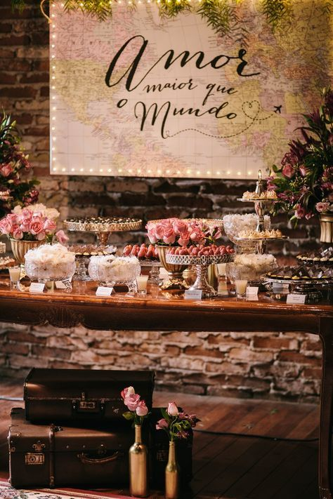 Amor maior que o mundo – Casamento com tema viagem Juliana