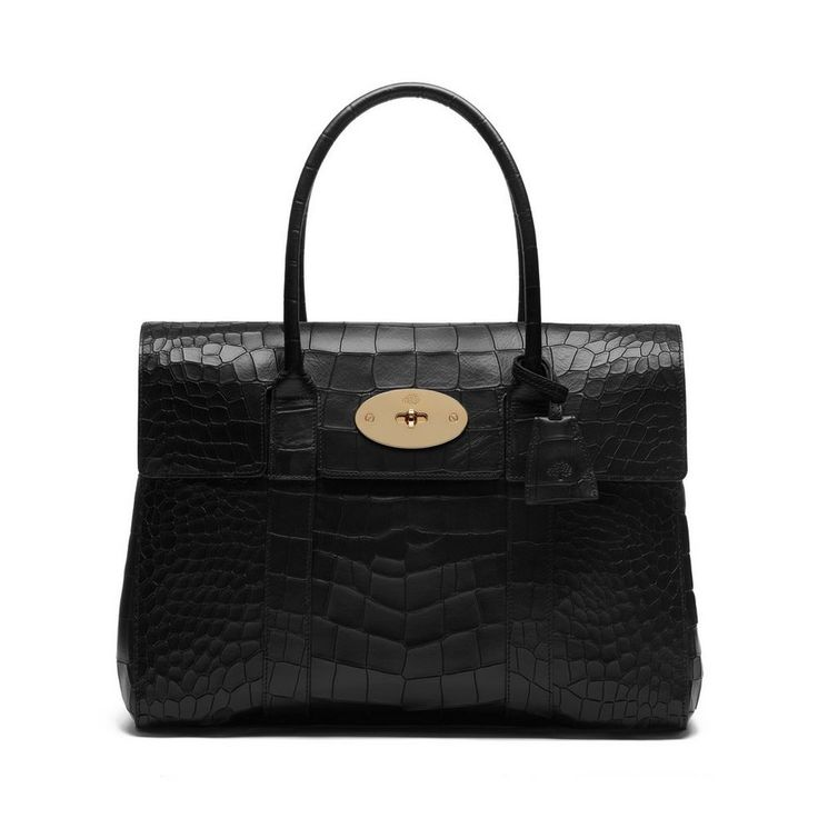 An icon for autumn - Bayswater in Black Deep Embossed Croc Print