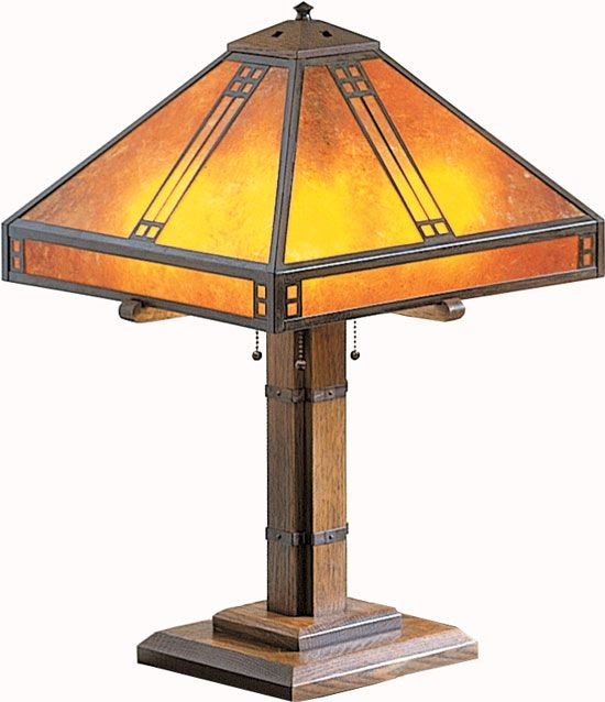 Arroyo Craftsman PTL-15 Prairie Craftsman Table Lamp - 23.125 inches tall - ARR-PTL-15