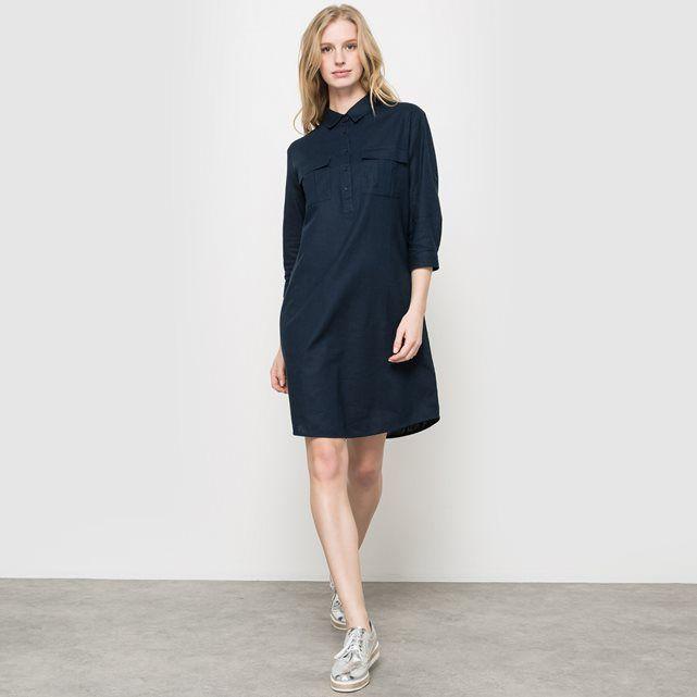 Compre Vestido estilo safari, linho/algodão Partes de cima na La Redoute. O melhor da moda online.