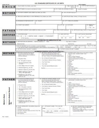 Download Birth Certificate Template 07