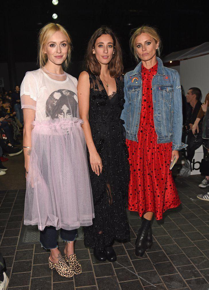Les Célébrités S'envolent Pour Londres et Ses Podiums Jour 2 Fearne Cotton, Laura Jackson et Laura Bailey au défilé Molly Goddard.