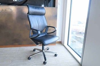 Great website for second hand quality office furniture: Wantdonswant: b><i>These are absolutely stunning! </b></i> Used Wilkhahn 'Modus' chairs in high grade black leather. Extremely comfortable coupled with attractive contemporary design