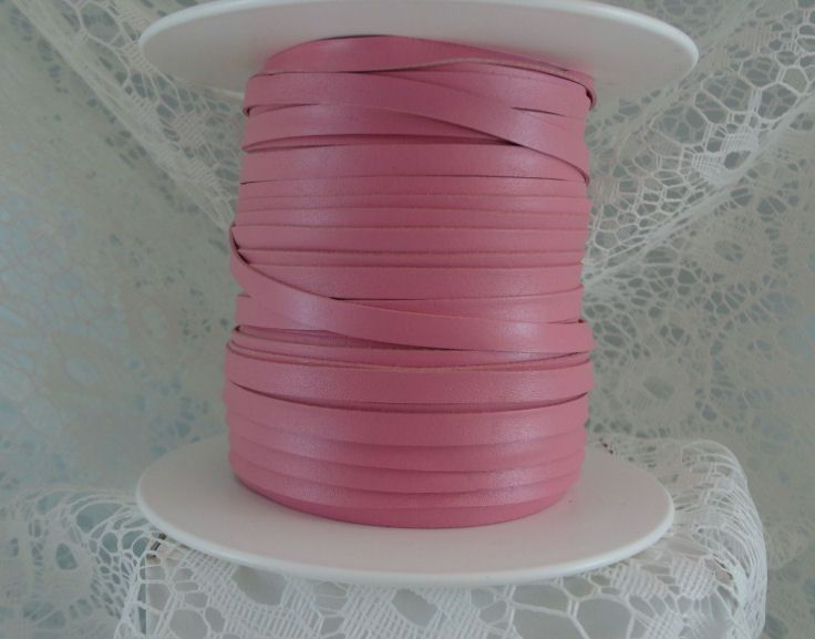 Pink.  Such a soft, beautiful pink kangaroo leather lace perfect for braiding.  Beauty you can feel!