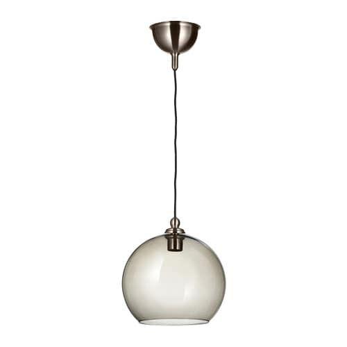 Gothem Jakobsbyn Pendant Lamp Dark Gray Smoked 12 Pendant Lamp Lamp Clear Light Bulbs