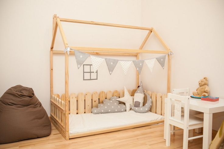 190x90cm children bed with fence &SLATS baby by SweetHOMEfromwood