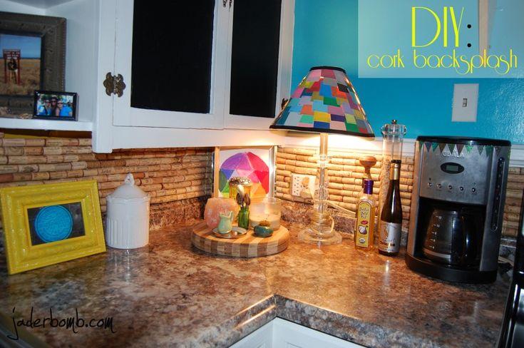Cómo hacer una pared posterior del corcho para su cocina: tutorial - JADERBOMB