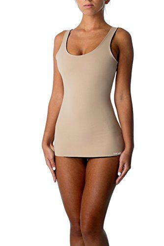 f63d8a4a2 COVERGIRL Shapewear 4-Way Reversible Tummy Control Tank Top Seamless  Slimming Shaping Tanks