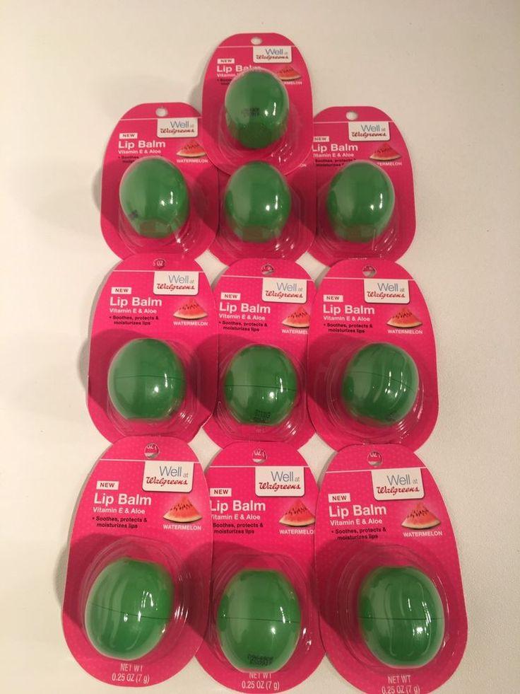 Lip Balm Lot Of 10 Watermelon Vitamin E & Aloe Lip Moisturizer Walgreens  | eBay