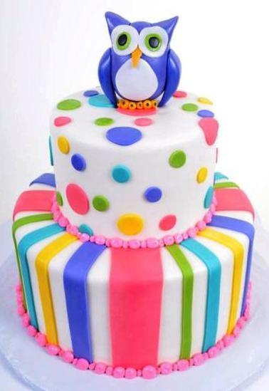 Pastry Palace Las Vegas - Kid's Cake #1094 – Hoo's Birthday?