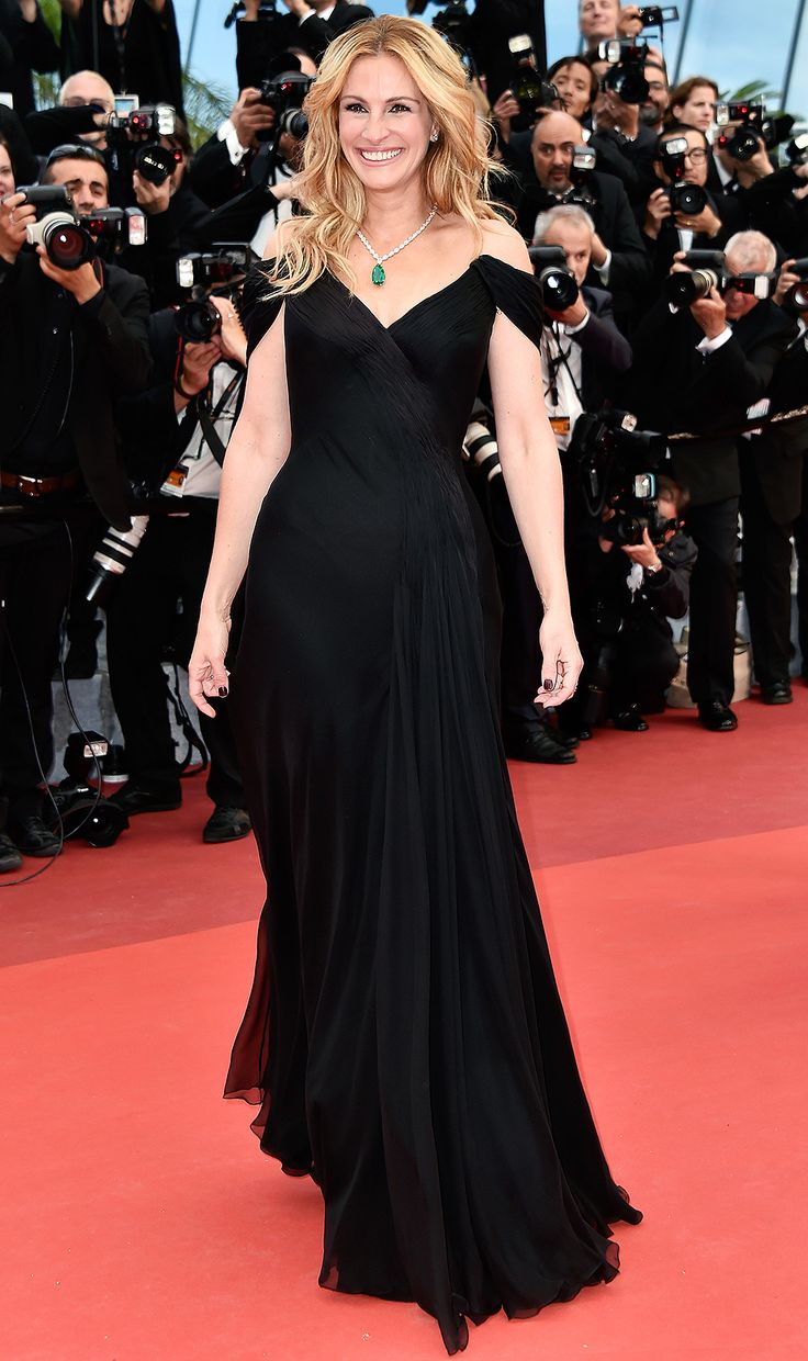 The famous French film festival never lacks for fabulous fashion - Julia Roberts in an off-the-shoulder black dress