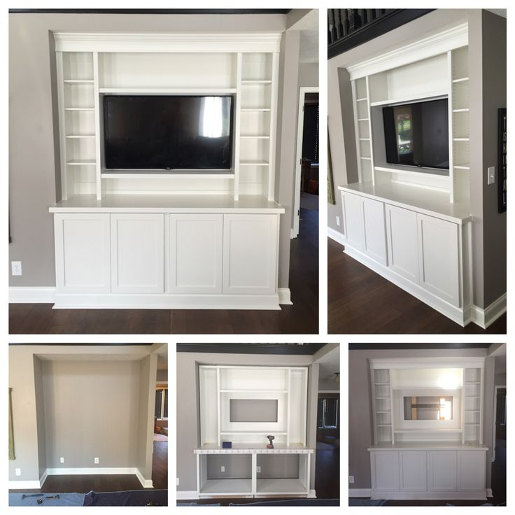Best Custom Built In With Base Cabinets With Shaker Style Doors 640 x 480