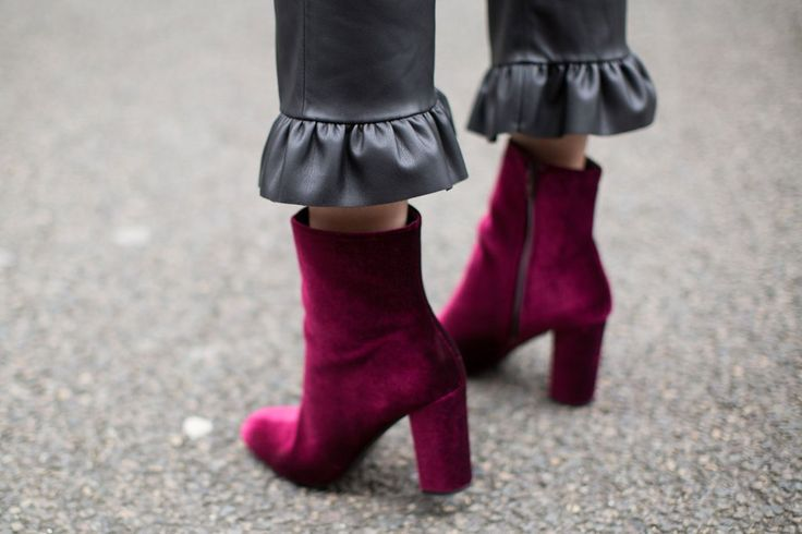 From platform sandals to smoking slippers to combat boots, designers are offering a plethora of velvet shoe options this fall. This luxe fabric makes its resurgence year after year, which makes the investment totally worth it - velvet shoes never go out of style!