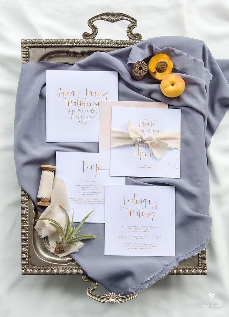 Najmodniejsze zaproszenia ślubne na 2017 od Soap Bubble