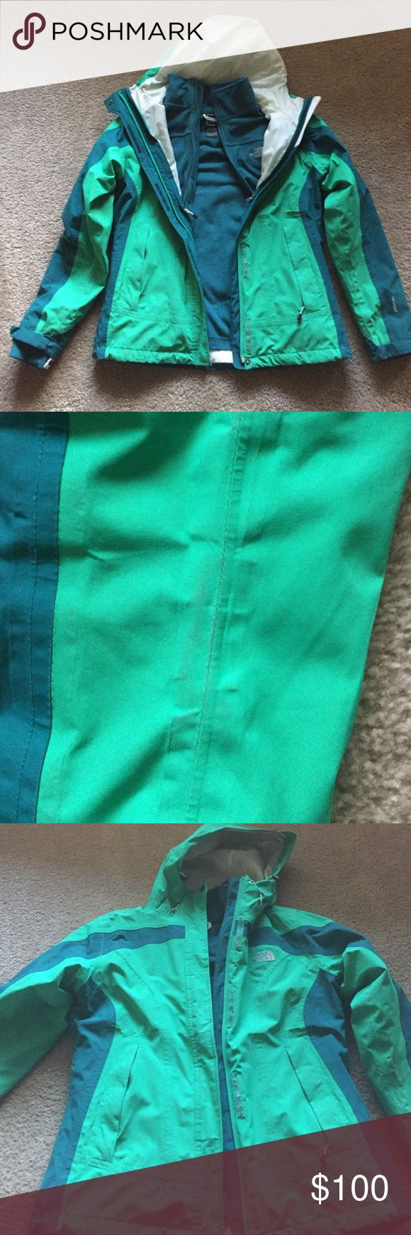Northface triclimate jacket Lightly worn. Slight discoloration on sleeves, could easily be scrubbed. Great condition The North Face Jackets & Coats
