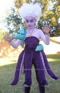 Homemade Ursula The Sea Witch Costume for a Girl... This website is the Pinterest of costumes