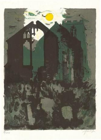 John Piper, Wiggenhall, St Peter and (Norfolk, England),1975, lithograph.