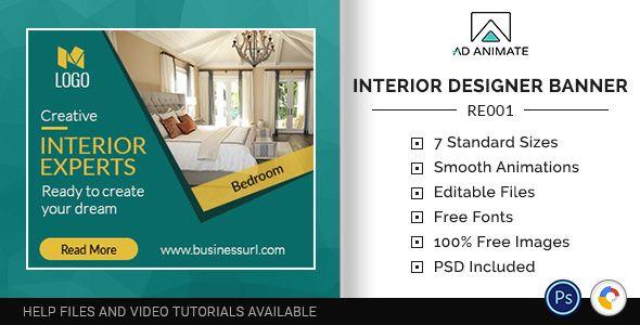 Real Estate Interior Designer Banner Re001 Dengan Gambar
