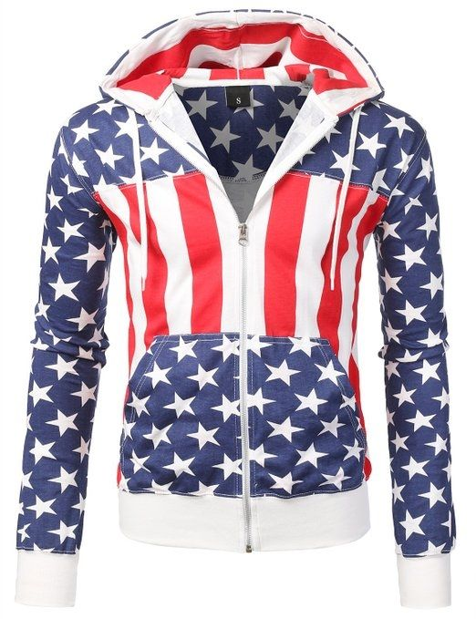 SMITHJAY Mens Hipster Hip-Hop AMERICAN FLAG Hoodie  hipster flag american 4th of july july 4th gifts mens products hoodie holiday gifts affordable amazon smithjay hip-hop sweatshirts
