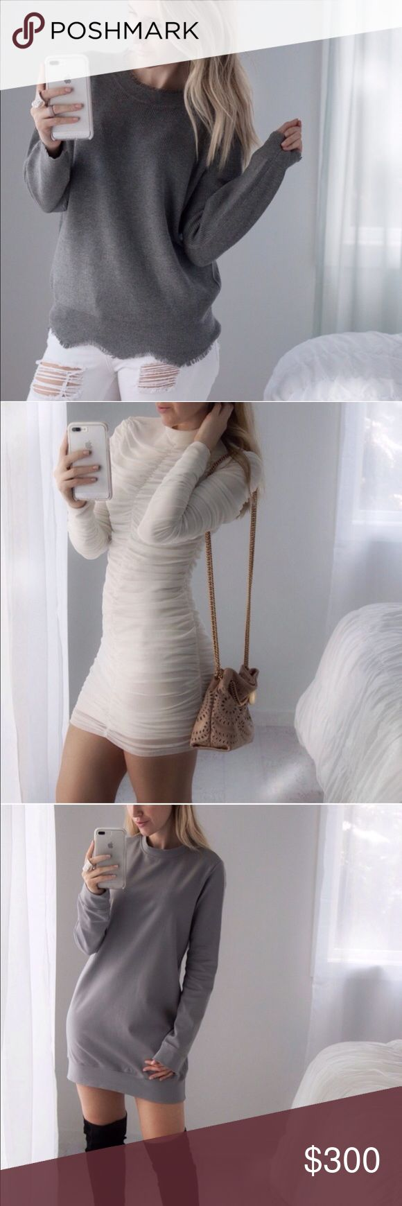 Marissa▫️3 Items Amagansett Sweater (S/M) $54, Madison Mini   Ivory (M) $55, Skyline Sweatshirt Dress   Gray (S) $49. New. Plus discount. Purchase date: 1/26. Other