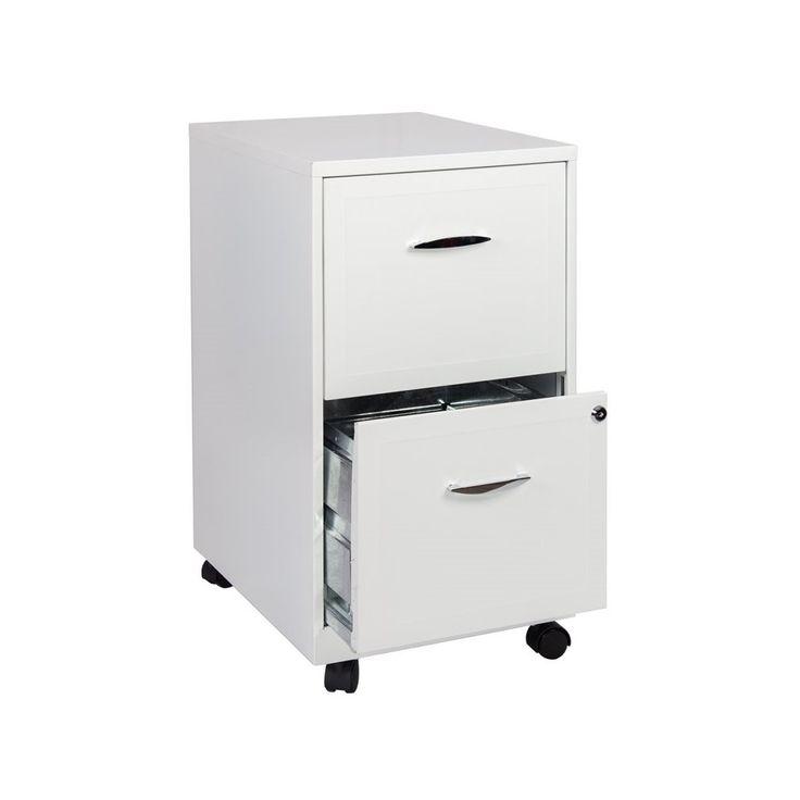 2 Drawer Steel File Cabinet In White Scranton Co Filing Cabinet Metal Storage Cabinets Mobile File Cabinet