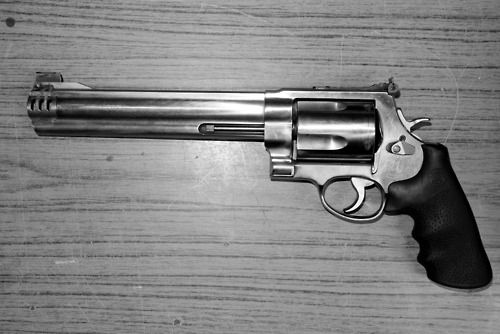 .44 Magnum Revolver. i'll own one someday. after shooting daddy's, i'm addictedddd.