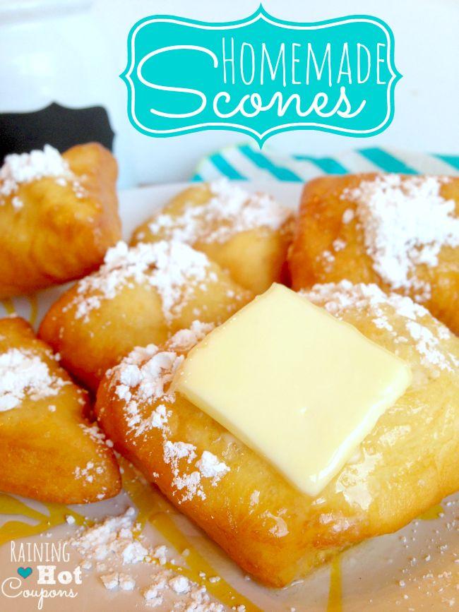 Homemade Scones Recipe (Super Easy!) --> http://www.raininghotcoupons.com/scone-recipe-easy-and-homemade/