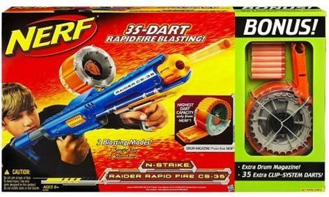 Nerf Raider CS-35 Rapid Fire Gun with Bonus Value Extra Drum Magazine & 35 Cl