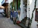 Shopping in Chora (Alonnisos old capital) in Greece.