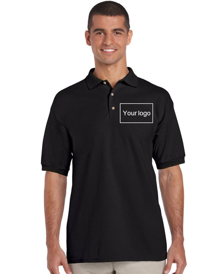 Premium Adult Embroidered Polo T-shirt Personalized Cotton Tee Workwear Black | Clothing, Shoes & Accessories, Unisex Clothing, Shoes & Accs, Unisex Adult Clothing | eBay!