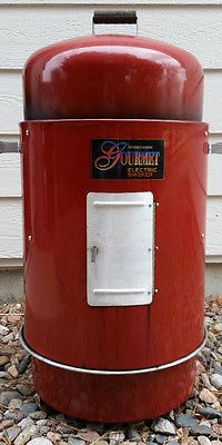 Red Brinkmann Gourmet Electric Smoker and Grill with Burner LOCAL PICKUP ONLY