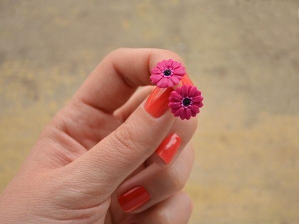 Handmade gerbera earrings