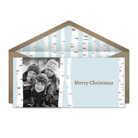 60 best christmas cards images on pinterest christmas wishes birch tree frame digital greeting card for christmas m4hsunfo Gallery