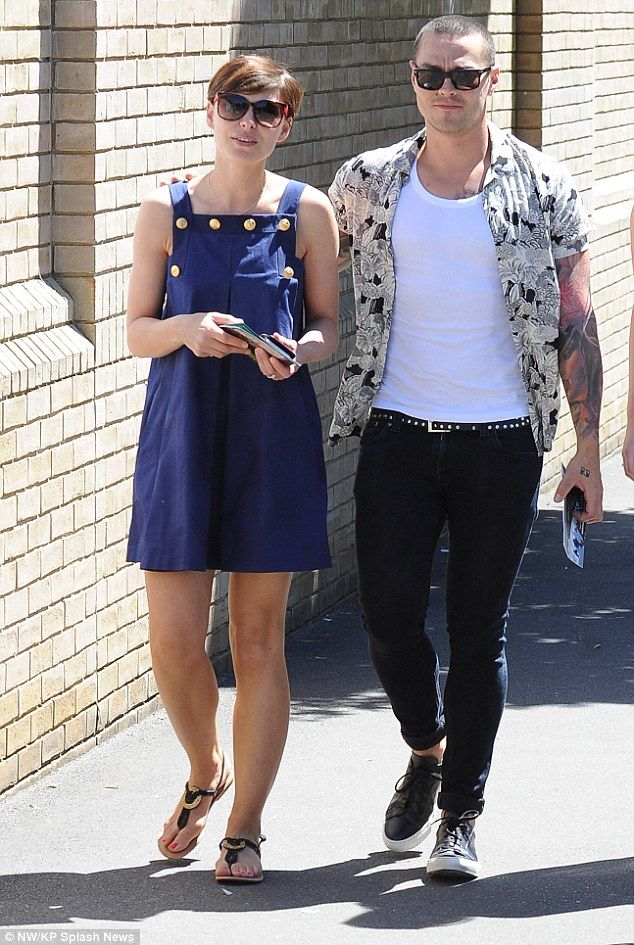 Emma and Matt Willis inject a bit of rock 'n' roll into Wimbledon #dailymail