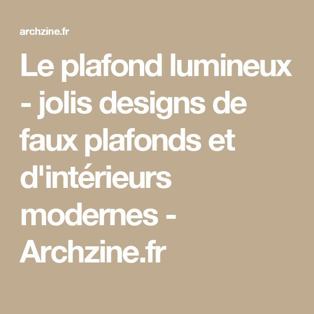 17 Meilleures Id Es Propos De Faux Plafond Design Sur Pinterest Faux Plafond Faux Plafond