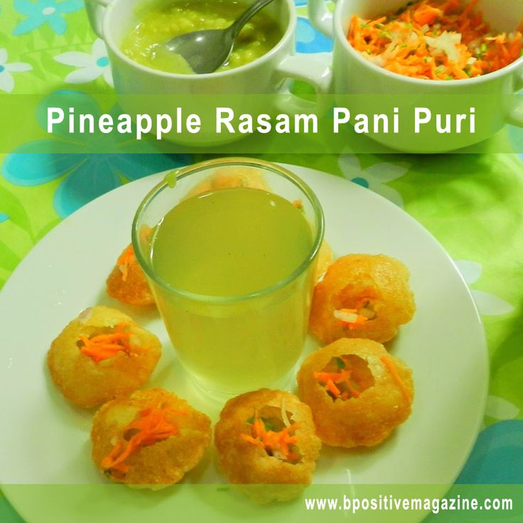 Spicy , Sweet and Sour Recipe is here - Pineapple Rasam Pani Puri
