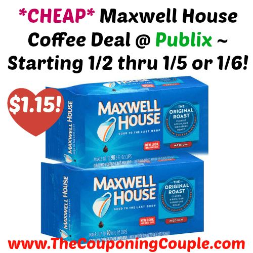 STOCK UP PRICE!! *CHEAP* Maxwell House Coffee Deal @ Publix ~ Starting 1/2 thru 1/5 or 1/6!  Click the link below to get all of the details ► http://www.thecouponingcouple.com/cheap-maxwell-house-coffee-deal-publix-starting-12-thru-15-or-16/ #Coupons #Couponing #CouponCommunity  Visit us at http://www.thecouponingcouple.com for more great posts!