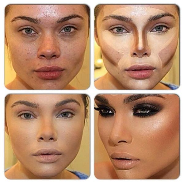 face makeup contouring tutorial concealing contour and highlight pinterest maquillage. Black Bedroom Furniture Sets. Home Design Ideas
