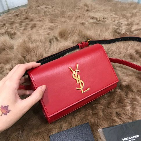 e3801dc740 2018 Saint Laurent Kate Belt Bag in Red Smooth Leather | Dream Bags ...