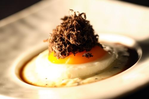 Receta de huevos trufados para dos
