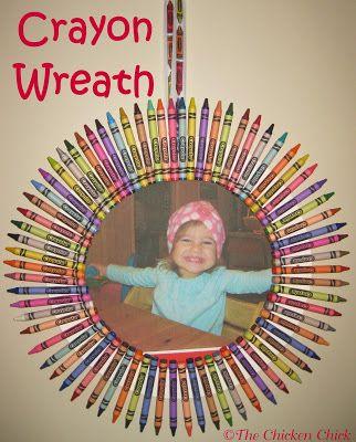 Crayon Wreath Tutorial