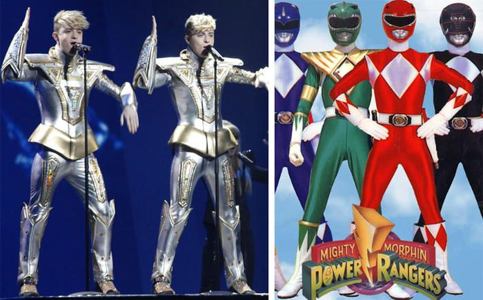Jedward and Power Rangers