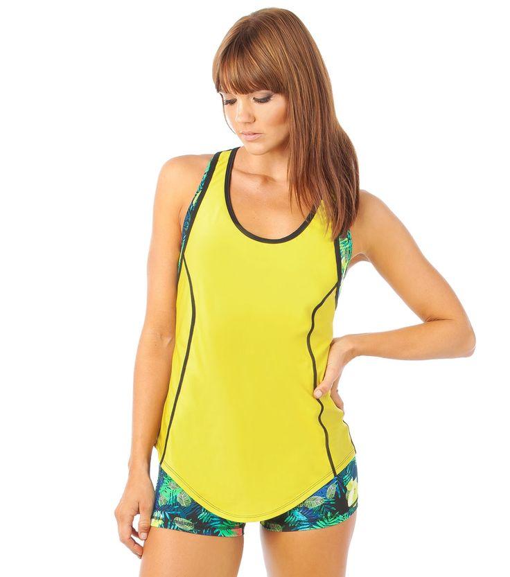 She's A Goddess Bright Eyes Cami - Yellow www.lurv.com.au #lurvsportswear #lurvlife