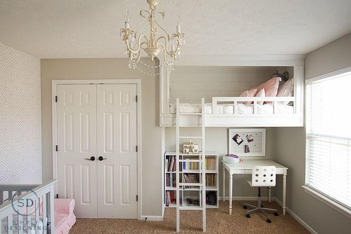DIY Loft Bed for a Girl