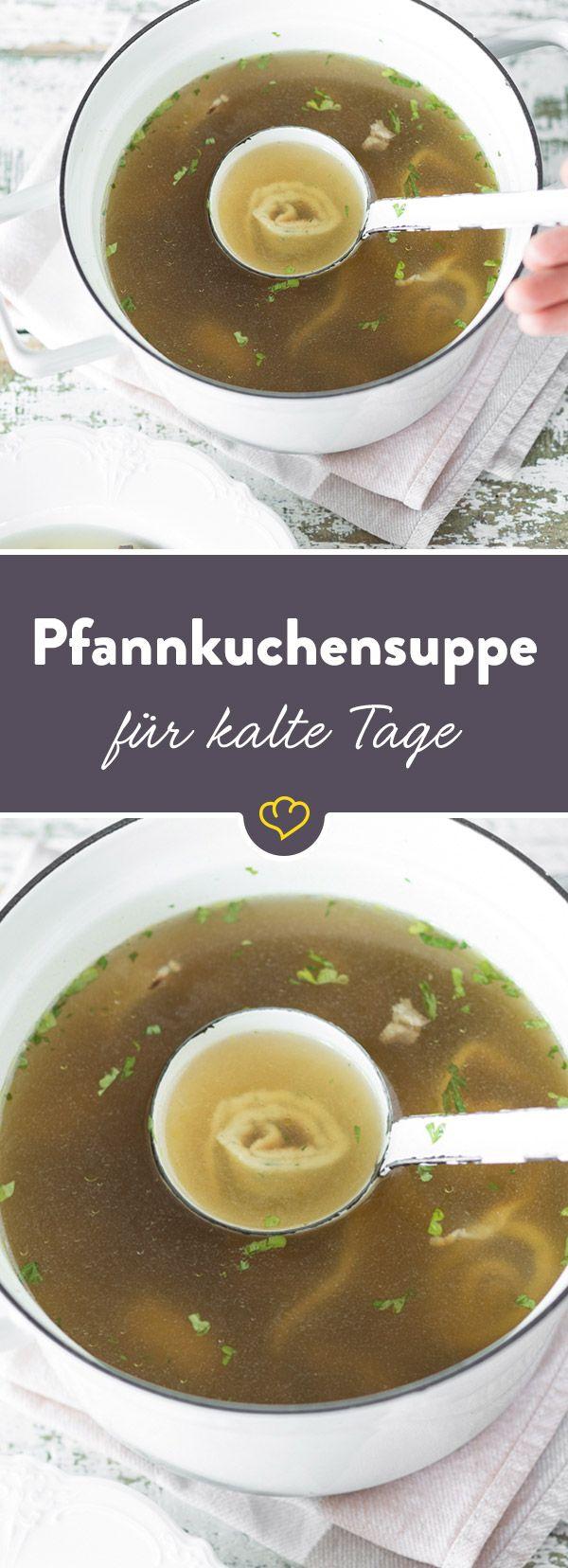 Der Klassiker für Suppenkasper. Wie man sie auch nennen mag: Frittatensuppe, Flädlesuppe oder schlicht Pfannkuchensuppe - sie ist und bleibt ein Kraftpaket!