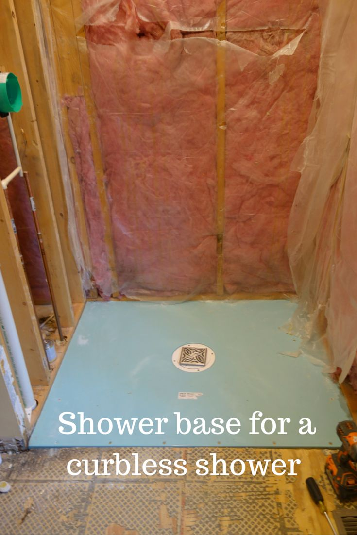 The right shower base makes all the difference for a universal and accessible curbless walk in or roll in shower.